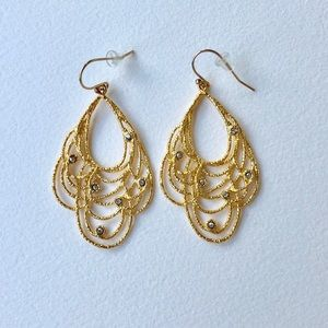 Alexis Bittar Mauritius Golden Lace Drop Earrings